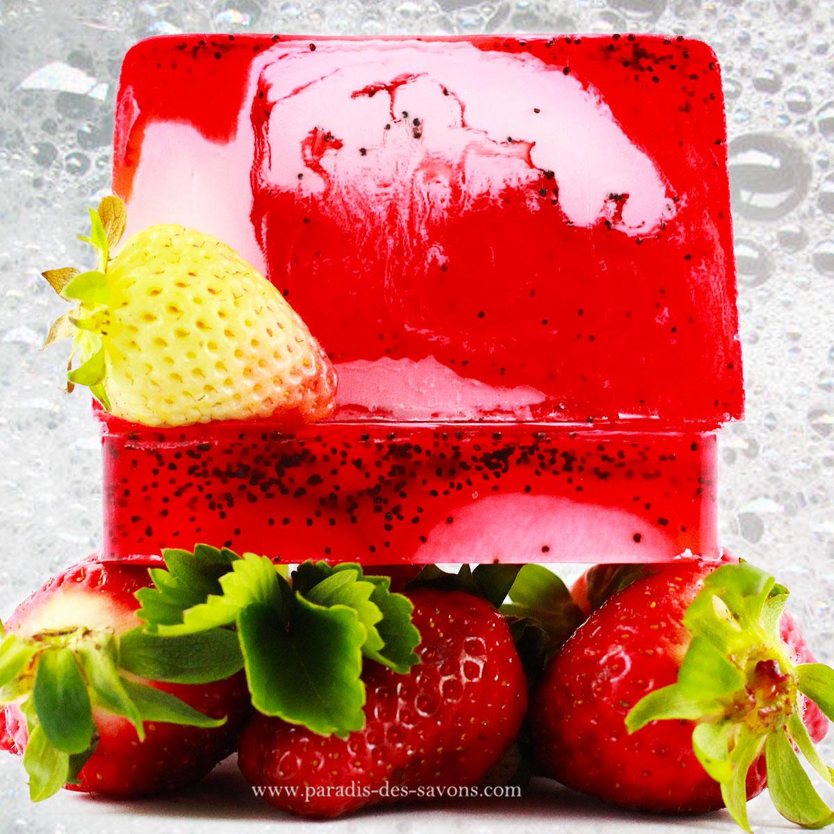 Savon à la fraise