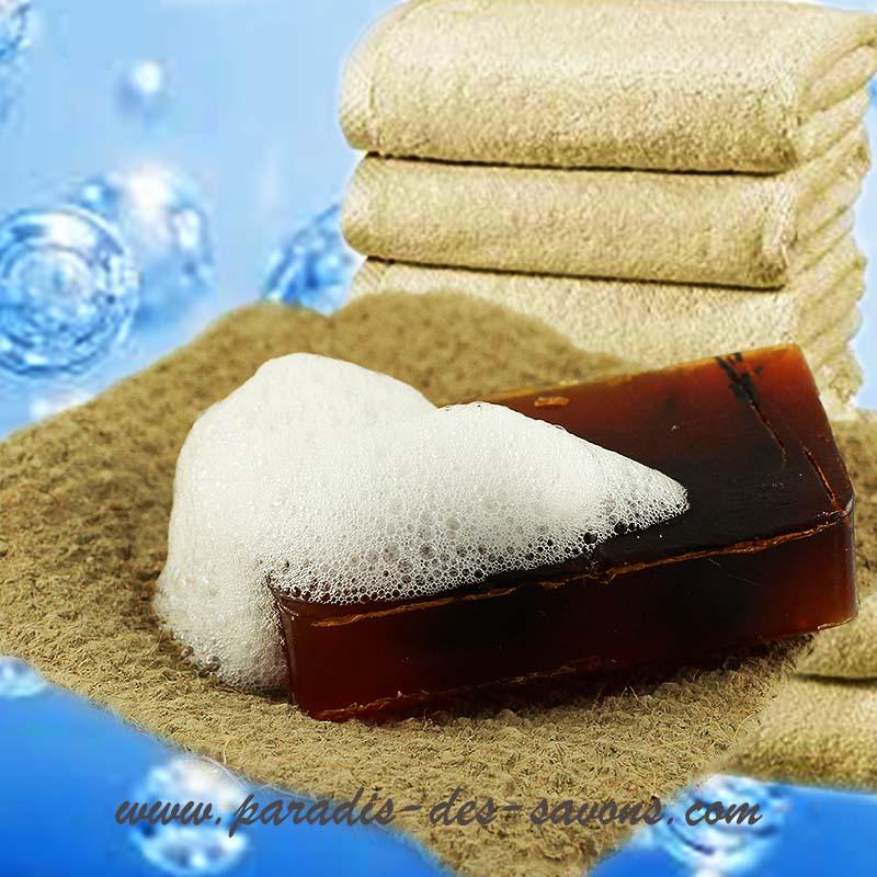 Savon à l'huile d'arbre à thé sur porte savon