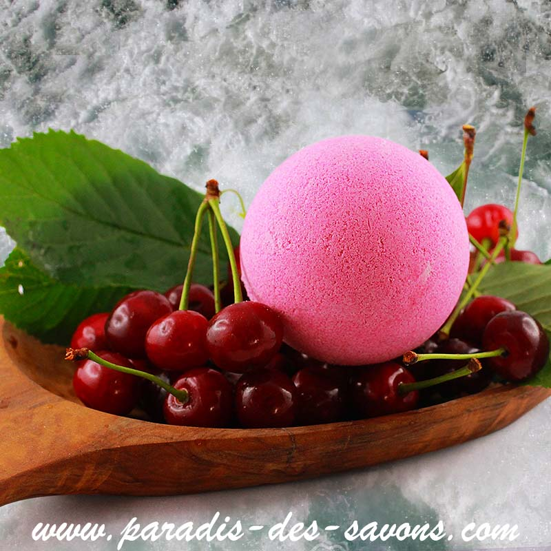 Boule de bain Cerise