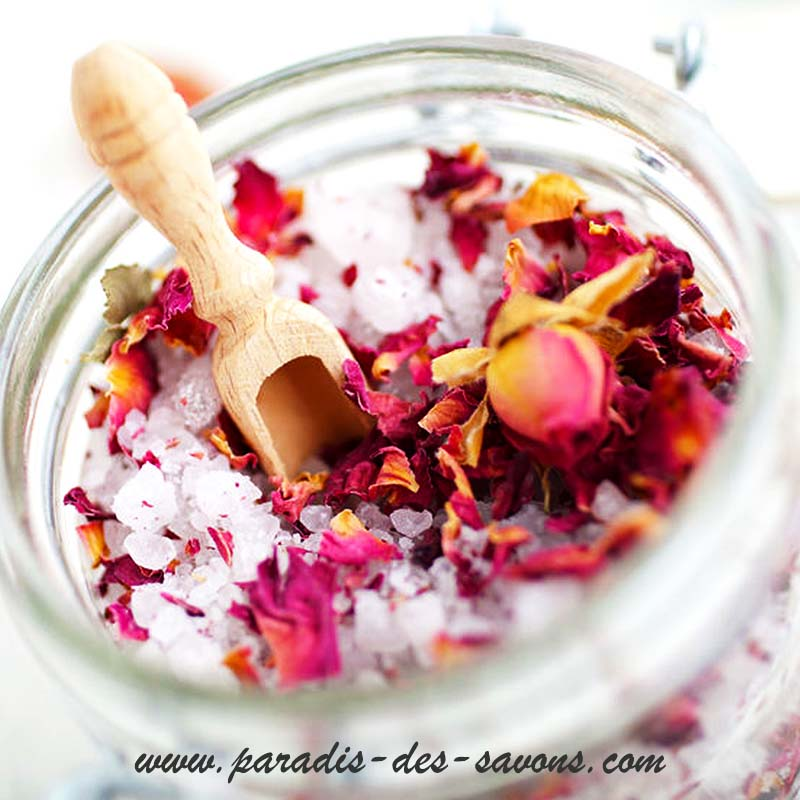 Recette sel de bain à la rose