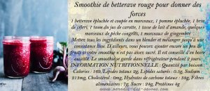 Smoothie de bettervae pour donner des forces