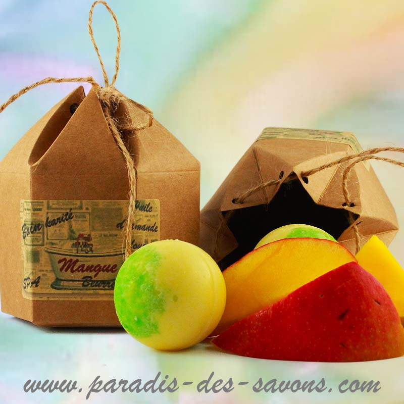 Perle pour bain parfumée mangue