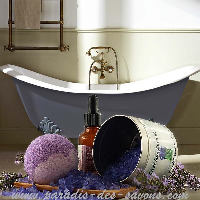 Boule de bain lavande