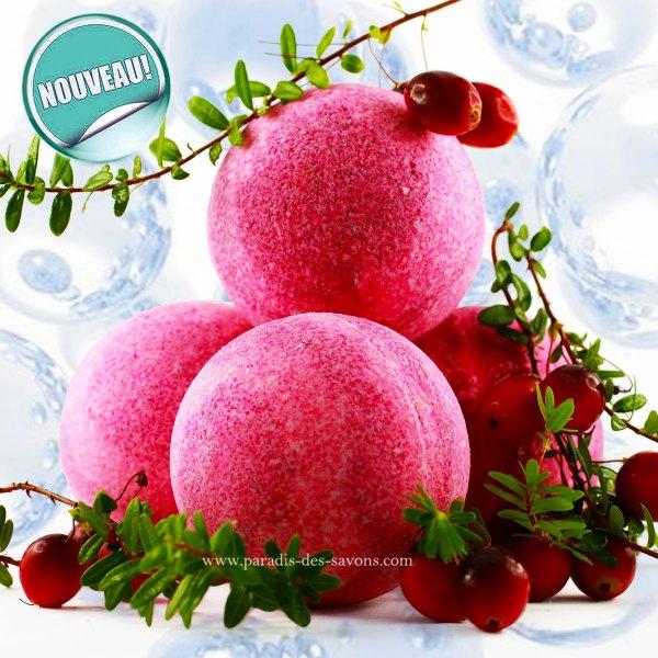 Boule de bain naturelle cranberry