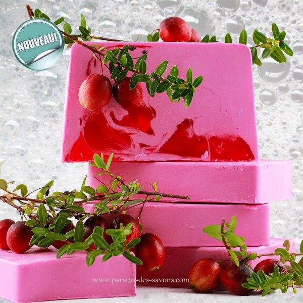Savon fait main Cranberry