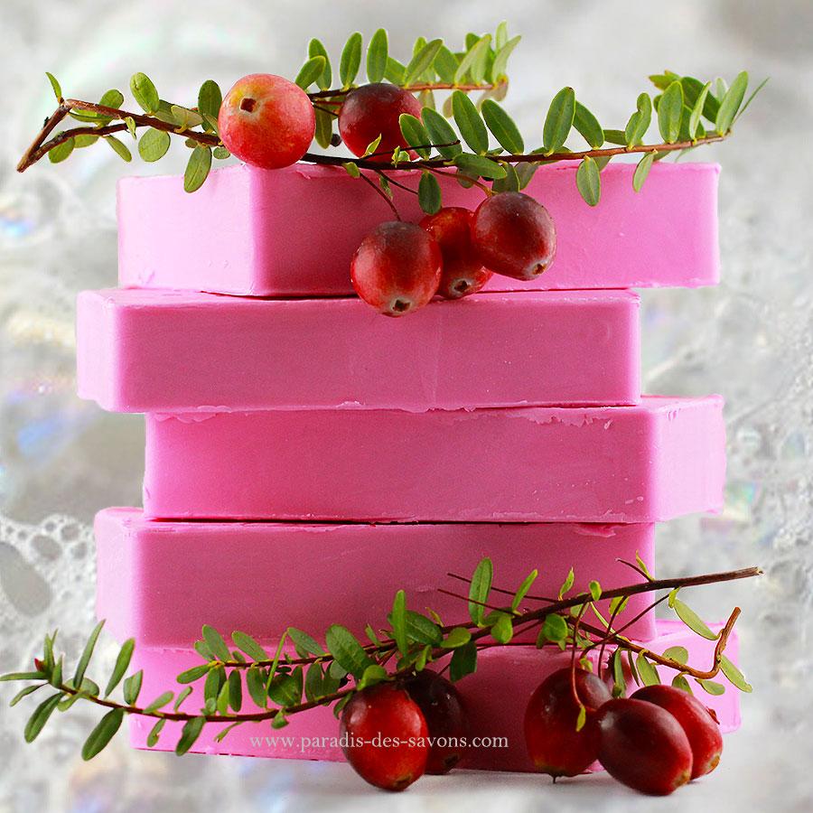 Savons cranberry de Paradis Des Savons