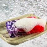 Savon lilas sur porte savon
