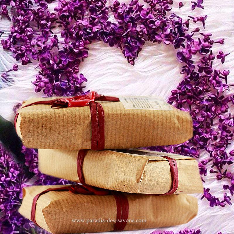 Savon parfumé lilas emballage