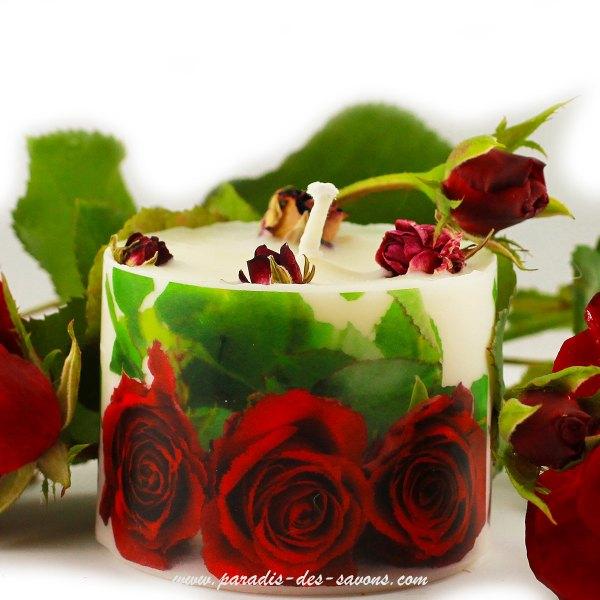 Bougie à la rose