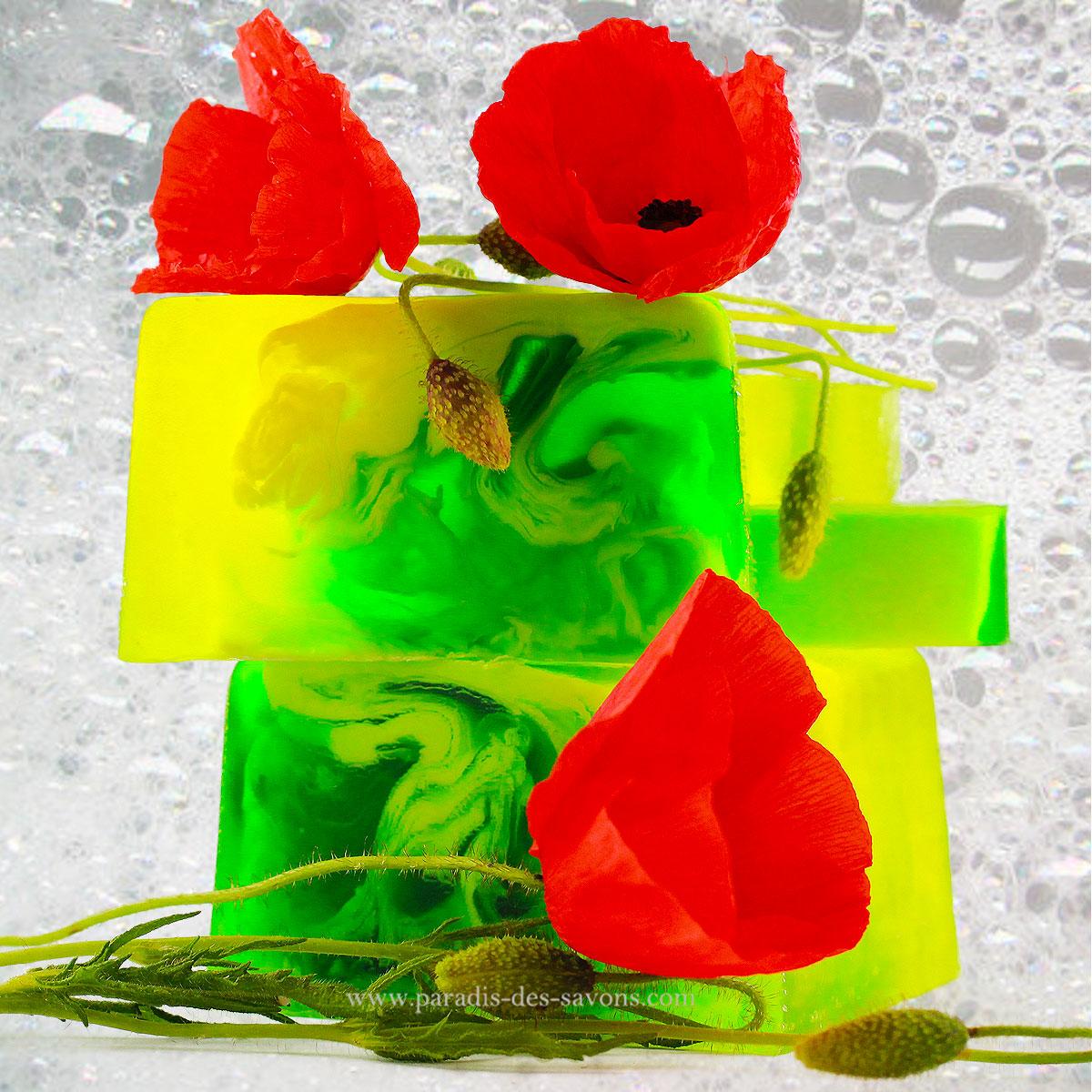 Savon Flower parfum Coquelicot