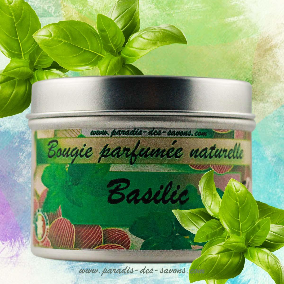 Bougie parfumée basilic