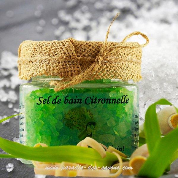 Sel de bain citronnelle