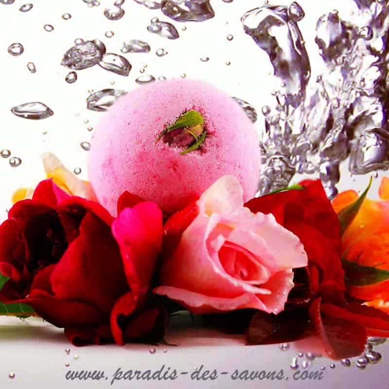 Bain rose sauvage