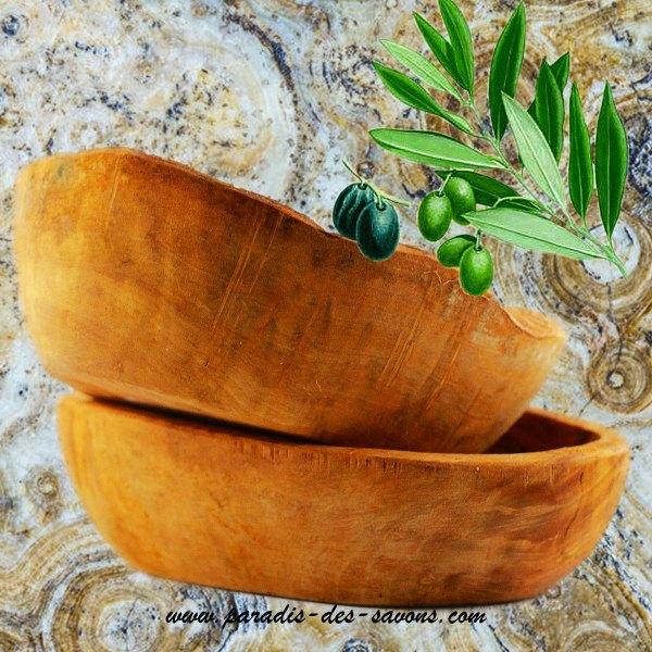 Porte savon bois d'olivier