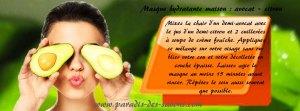 Masque hydratant maison avocat - citron