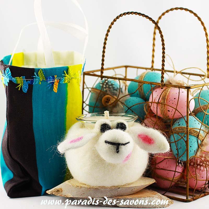 Bougie naturelle en laine