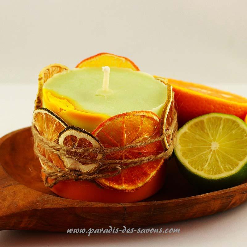 Bougie avec une orange