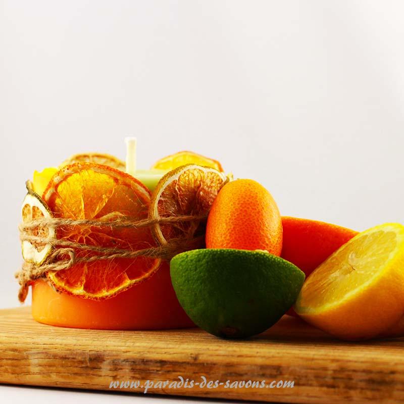Faire des bougies avec des oranges