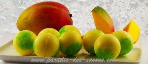 Les perles de bain karité Mangue